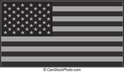 Vector United States flag grey.
