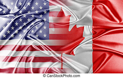 USA and Canada. Relations between two countries. Conceptual image.