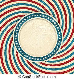 USA flag themed grunge background