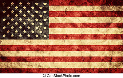 USA grunge flag. Vintage, retro style. High resolution, hd quality. Item from my grunge flags collection.