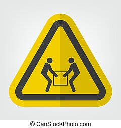 Use Two Person Lift Symbol Sign