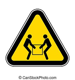 Use Two Person Lift Symbol Sign Isolate On White Background, Vector Illustration EPS.10
