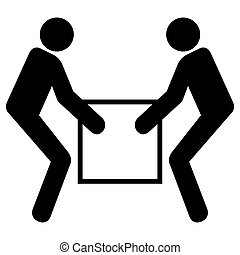 Use Two Person Lift Symbol Sign  Isolate On White Background,Vector Illustration EPS.10