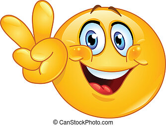 Emoticon showing the V sign