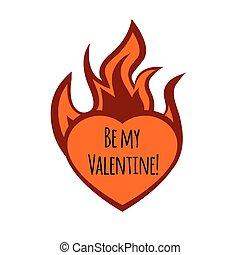 Frame burning heart