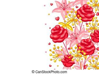 Valentine Day greeting card.