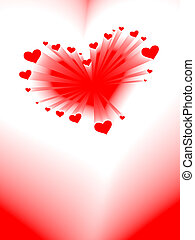 valentine's day card, vector, romantic heart
