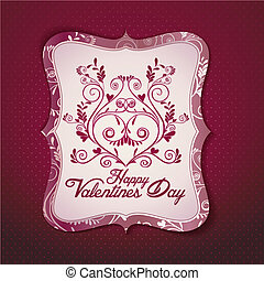 Valentine's day card vector templat