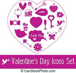 Valentine's Day Icon Set. Vector