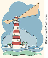 Variegated Lighthouse