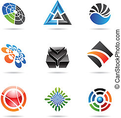 Various colorful abstract icons, Set 23