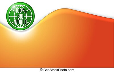 Vector abstract background with bio icon