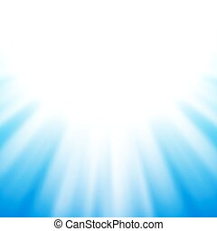 Vector abstract background with flare on blue