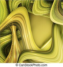 vector abstract background with green waves