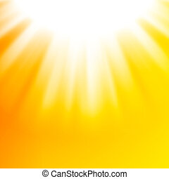 Vector abstract background with sun