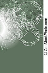 vector abstract background with transparent circles
