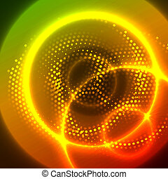 Vector abstract glowing background