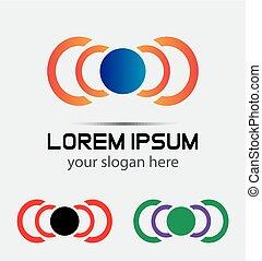 Vector abstract logo collection