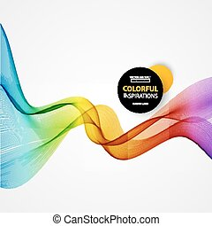Vector Abstract spectrum curved lin