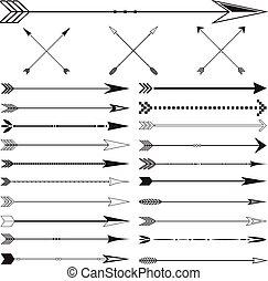Vector Arrow Clip art Set on White Background