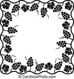 vector background decoration of grape vine