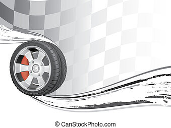 vector background of automobile race