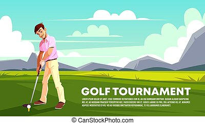 Vector background of golf tournament. Sport poster