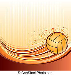 vector background of volleyball sport