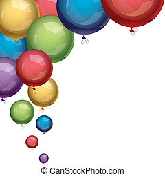 vector festive colorful balloons