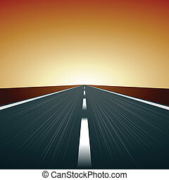 vector blurred road