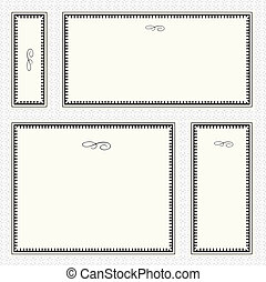 Set of highly detailed vector frames. Easy to edit.