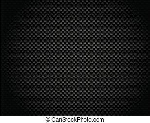 Vector Button on Carbon Fiber Background. Eps10!
