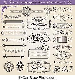 Vector calligraphic decorations