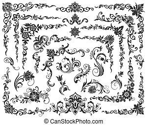 vector calligraphic design elements