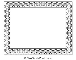 calligraphy ornamental decorative frame with heart
