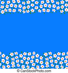 Vector card with floral seamless frame