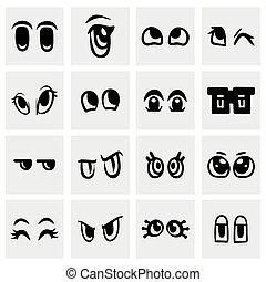 Vector Cartoon eyes icon set