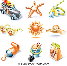 Vector cartoon style icon set. P.16