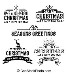 Vector Christmas Signs