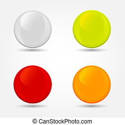 Vector colored glossy orbs