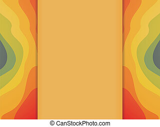 Colorful Waves Background with Copyspace