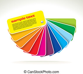 colour guide with sample text- vector illustration