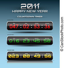 Vector countdown timer