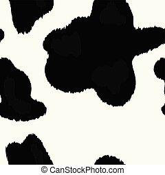 Vector Cow Skin Texture