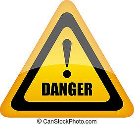 Vector danger sign illustration