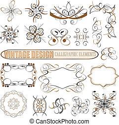 Vector decorative design elements: page decor