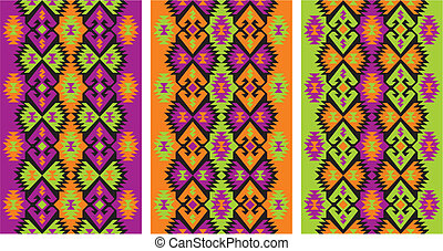 vector editable and scalable mexican ethnic frieze