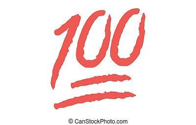 Vector Emoji 100 Hundred points symbol - Vektor Emoji 100 Hundert Punkte Symbol