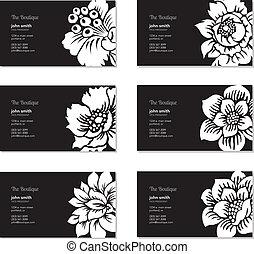 Vector Floral Business Card Set