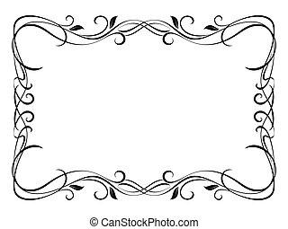 Vector floral ornamental decorative frame